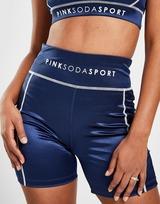 """Pink Soda Sport Shine Stitch 3"""" Shorts"""