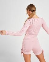 Pink Soda Sport Ruched Crop Top Donna