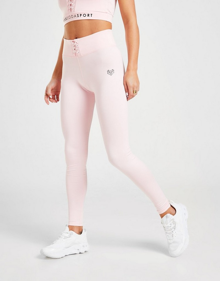 Pink Soda Sport Lace Up Tights