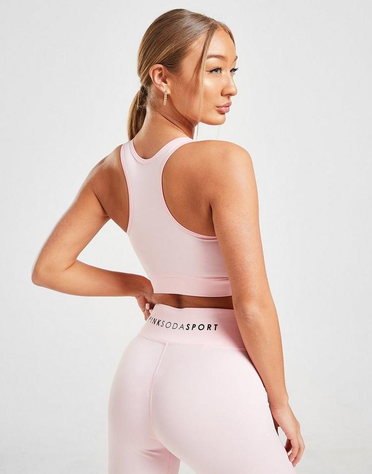 Pink Soda Sport Lace Up Reggiseno Sportivo Donna