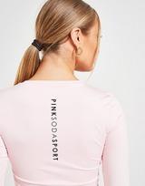 Pink Soda Sport Core Long Sleeve Crop Top
