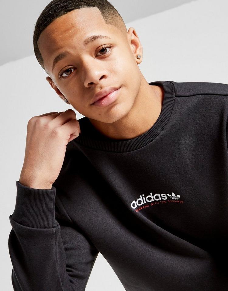 adidas Originals Trefoil Linear Crew Sweatshirt Junior