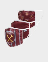 Official Team West Ham United 3 Pack Face Coverings