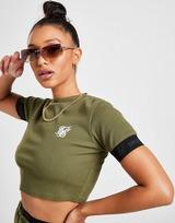 SikSilk Rib Tape Crop T-Shirt