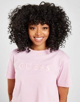 GUESS Satin Logo Crop T-Shirt