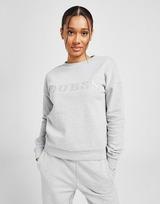 GUESS Satin Logo Crew Sweatshirt