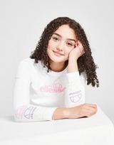 Ellesse Girls' Brin Long Sleeve Crop T-Shirt Junior