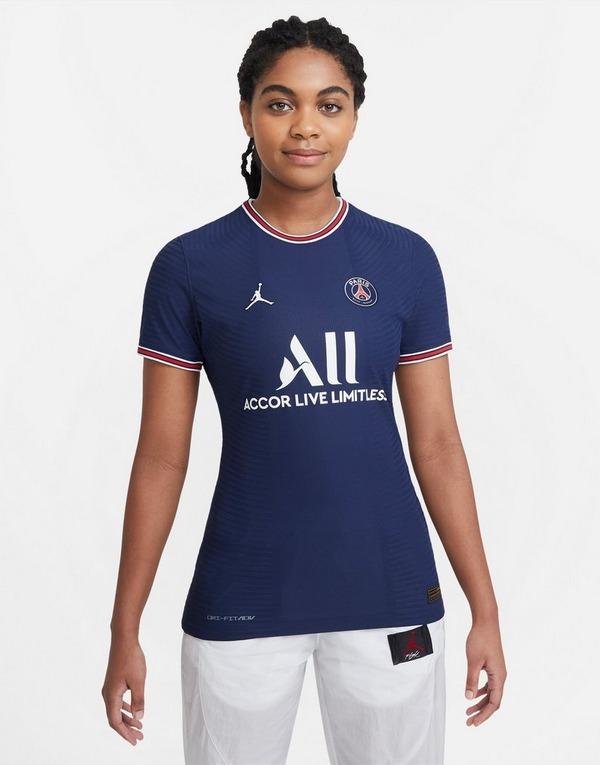 Blue Jordan Paris Saint Germain 21 22 Match Home Shirt Women S Jd Sports