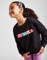 Nike Girls' Sticker Crew Neck Sweatshirt Children