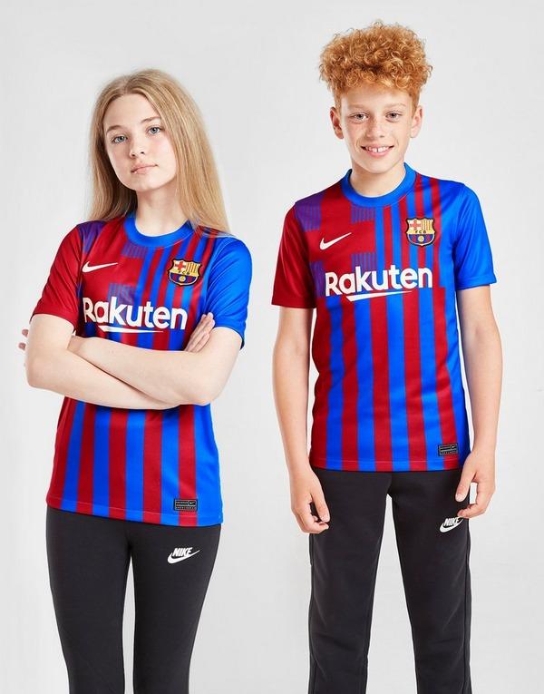 Nike FC Barcelona 2021/22 Home Shirt Junior in | JD Sports