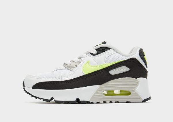 Nike Air Max 90 Leather Bambino in Bianco | JD Sports