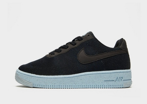 Nike Air Force 1 Crater Flyknit Junior in Nero | JD Sports