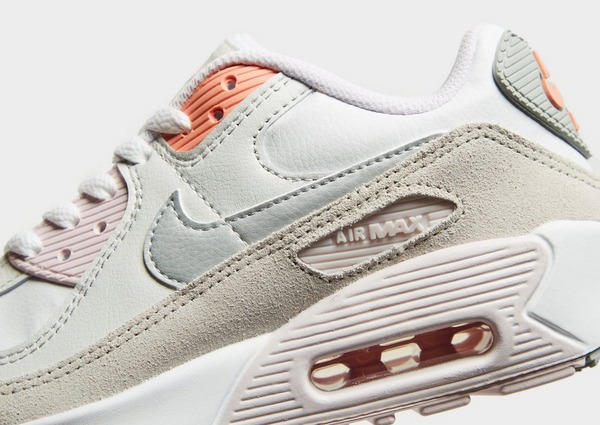 Nike Air Max 90 Leather Junior in Bianco | JD Sports