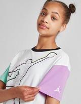 Jordan Girls' Short Sleeve Colour Block T-Shirt Junior