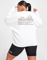Ellesse Graphic Back Plus Size Oversized Crew Sweatshirt