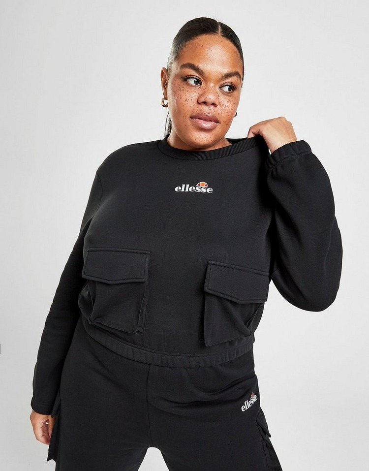 Ellesse Cargo Pocket Plus Size Crew Sweatshirt