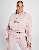 Ellesse Woven Badge 1/4 Zip Plus Size Jacket