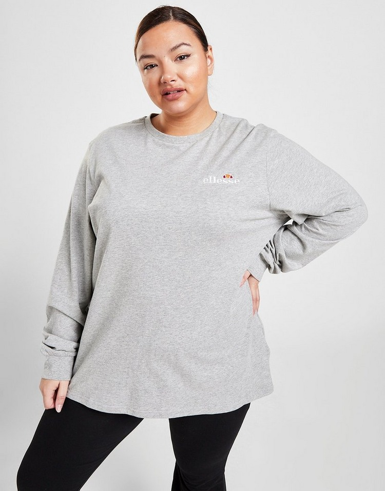Ellesse Core Long Sleeve Plus Size Boyfriend T-Shirt