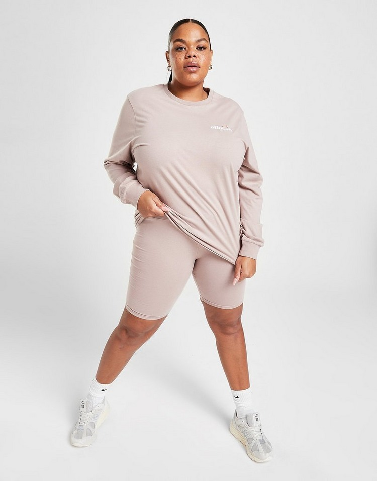 Ellesse Core Long Sleeve Plus Size Boyfriend T-Shirt
