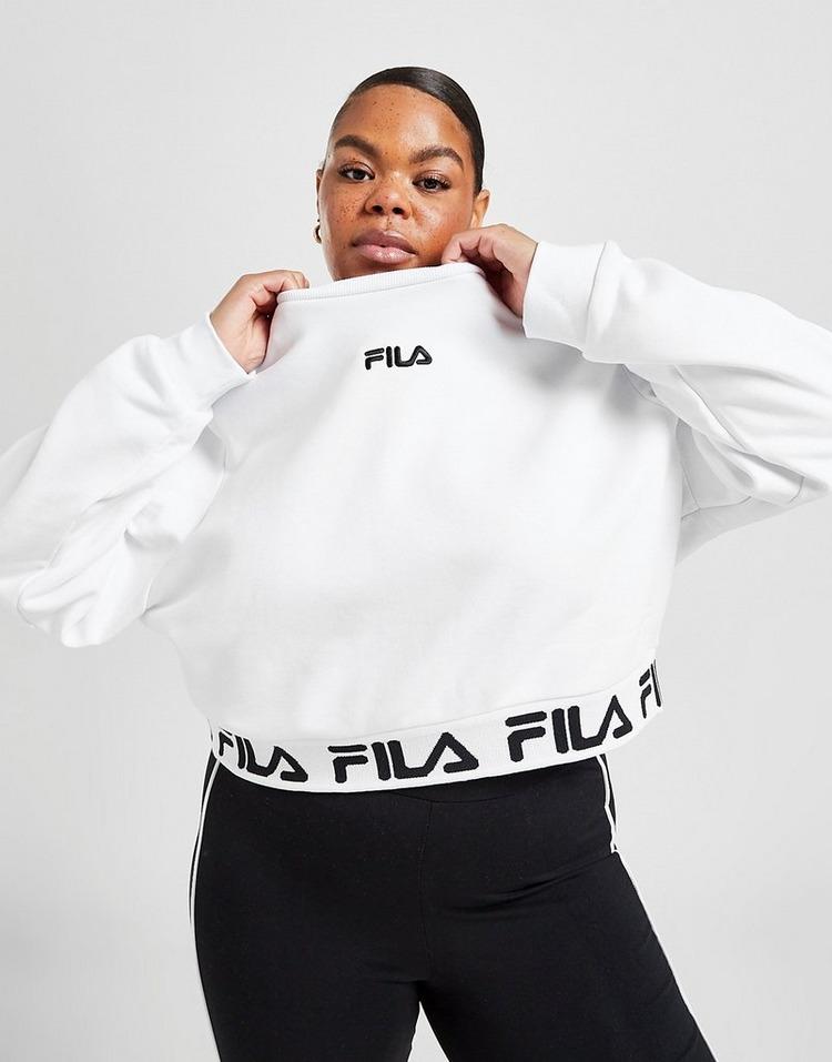 Fila Repeat Plus Size Crop Crew Sweatshirt