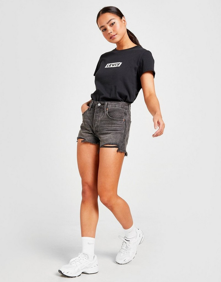 Levis 501 Distressed Shorts