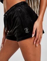 JUICY COUTURE Diamante Velour Shorts