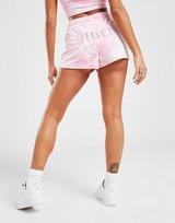 JUICY COUTURE Tie Dye Velour Shorts Damen