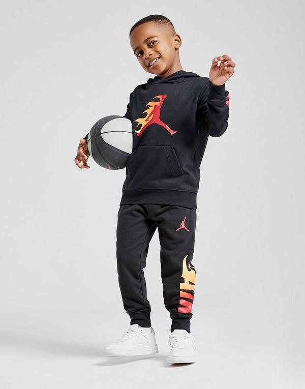 Jordan Jumpman Fire Pullover Hoodie Children En Negro Jd Sports