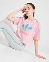 adidas Originals Tricolour 3-Stripes Crop T-Shirt Junior