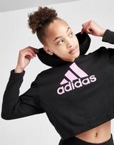 adidas Girls' Badge of Sport Cropped Tracksuit Junior