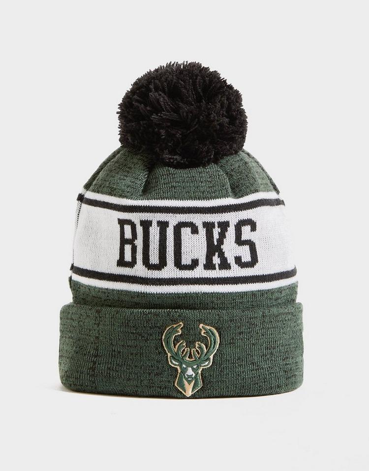 New Era NBA Milwaukee Bucks Pom Beanie Hat