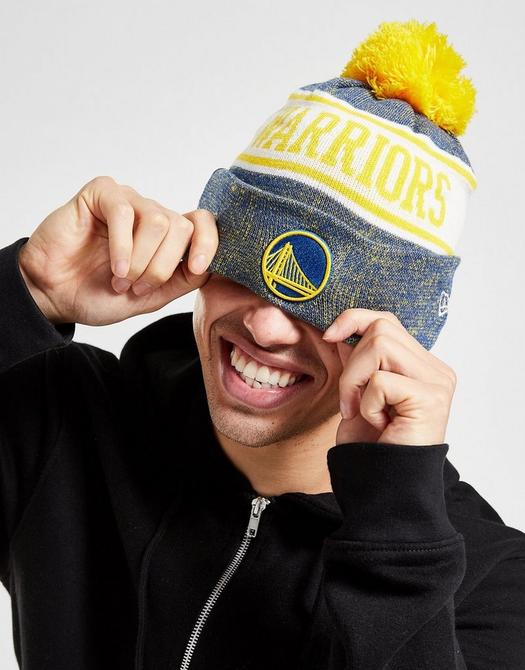 New Era NBA Golden State Warriors Pom Beanie Hat