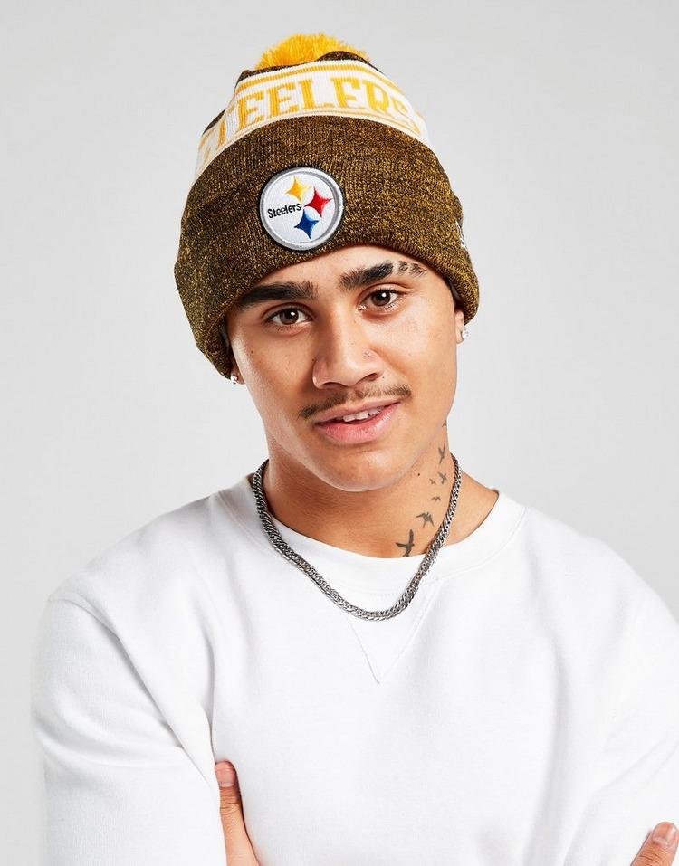 New Era NFL Pittsburgh Steelers Pom Beanie Hat