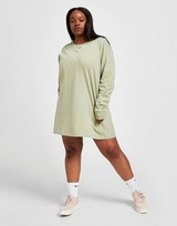 Pink Soda Sport Essential Plus Size Long Sleeve T-Shirt Dress