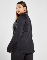Pink Soda Sport Vista 1/4 Zip Plus Size Track Top
