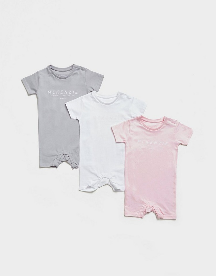 McKenzie Girls' 3-Pack Essential Babygrow Set Infant