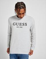 GUESS Linear Logo Crew Sweatshirt