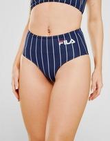 Fila Stripe High Waist Bikini Bottoms