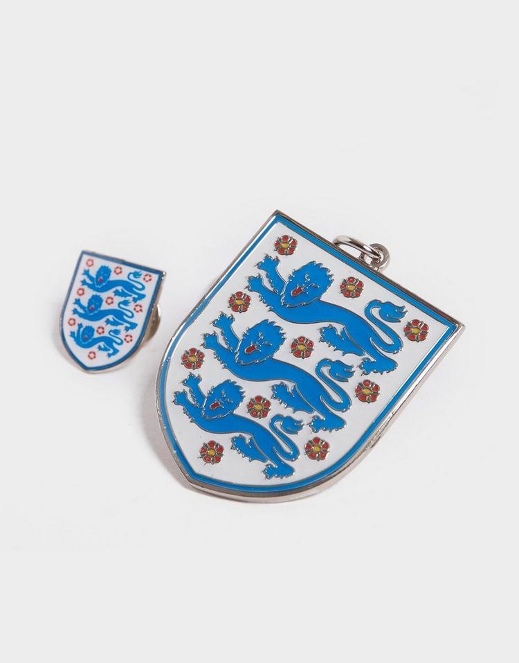 Official Team England Crest Badge & Keyring Set
