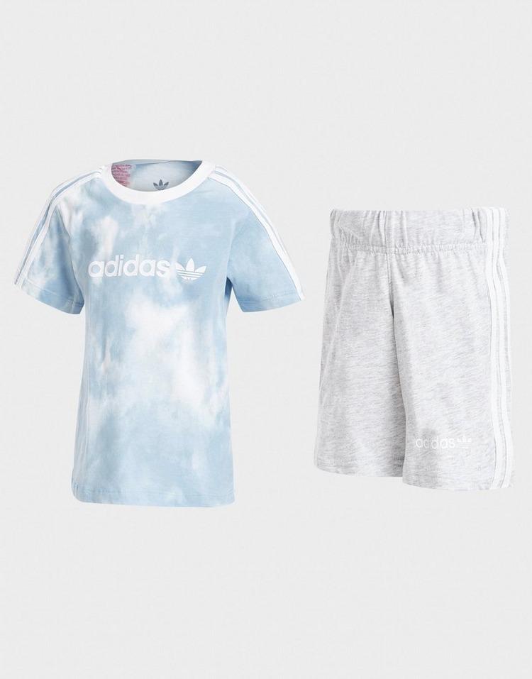 adidas Originals Conjunto T-Shirt e Calções Tie Dye para Bebé