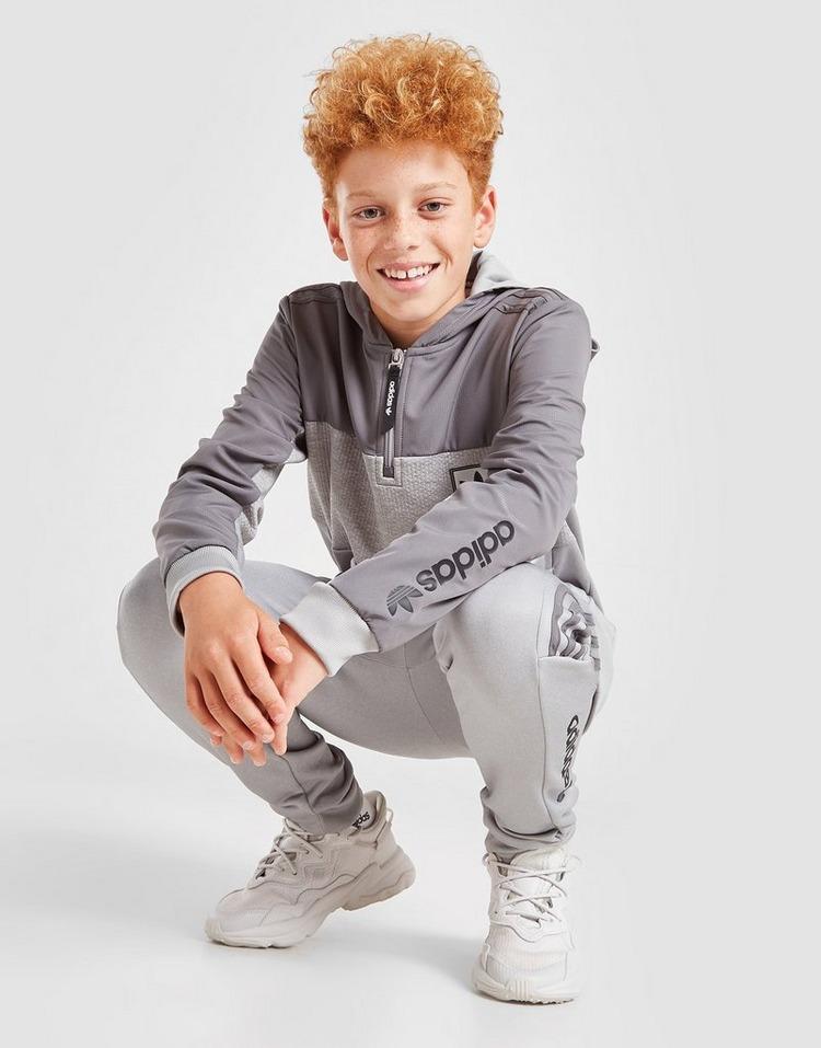 adidas Originals Camisola de treino com capuz ID96 1/4 Zip para Júnior