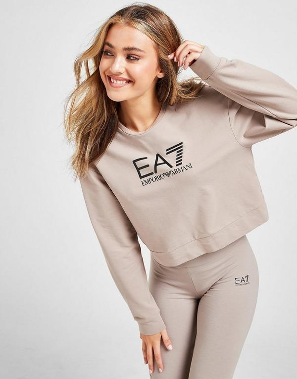 Emporio Armani EA7 Gloss Cropped Sweatshirt