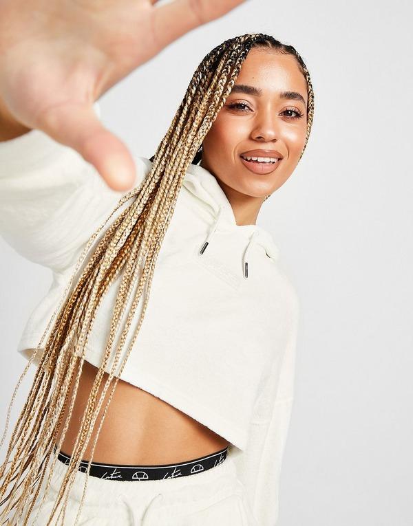 Ellesse x The Couture Club Towel Crop Hoodie