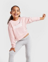 Puma Girls' Essential Crew/Leggings Tracksuit Children