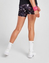 Nike Girls' Fitness All Over Print Shorts Junior