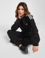 adidas 3-Stripes Crop Crew Neck Sweatshirt