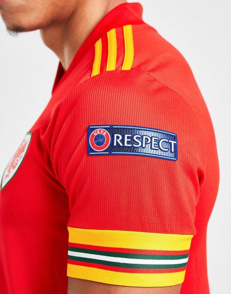 adidas Wales Euro 2020 Badged Home Shirt