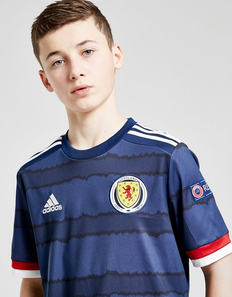 adidas Scotland Euro 2020 Badged Home Shirt Junior