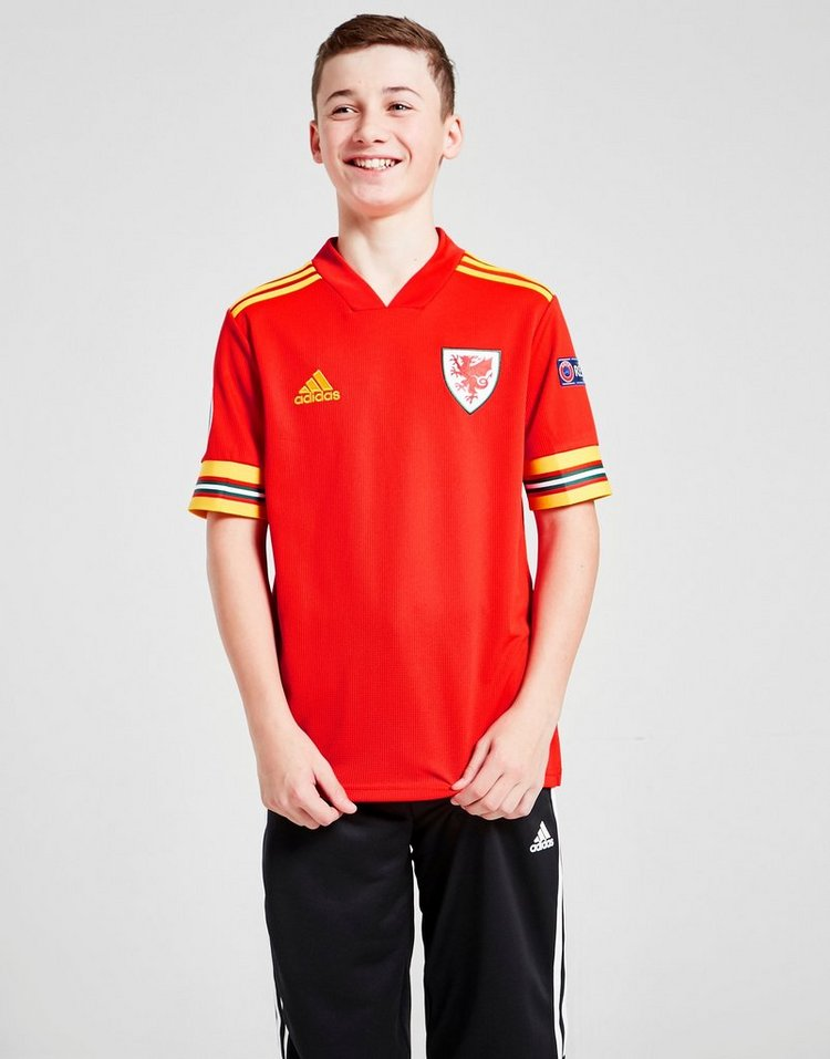adidas Wales Euro 2020 Badged Home Shirt Junior