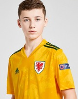 adidas Wales Euro 2020 Badged Away Shirt Junior